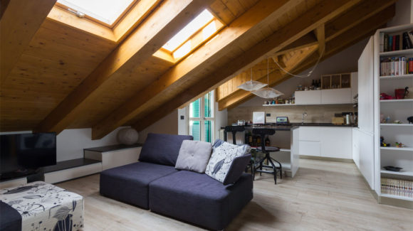 Open space attic